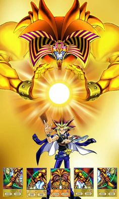 Yami Yugi And Exodia The Forbidden One Yu Gi Oh, Atem Yugioh, Yugioh Monsters, Pokemon, Digimon Adventure Tri, Fantasy Dragon, Gay Art, Manga Games, Anime Comics