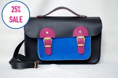 25% SALE DISCOUNT Leather satchel bag Leather by creamcaroll