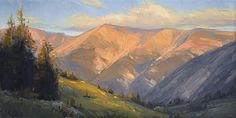 Last Light on the Divide by Stacey Peterson Oil ~ 12 x 24