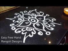 easy and innovative rangoli designs Rangoli Designs Latest, Simple Rangoli Designs Images, Rangoli Designs Flower, Rangoli Border Designs, Rangoli Patterns, Rangoli Ideas, Rangoli Designs Diwali, Rangoli Designs With Dots, Flower Rangoli