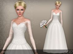 Wedding dress 39 by BEO - Sims 3 Downloads CC Caboodle