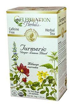 Celebration Herbals Turmeric Lemon Ginger Tea Blend - 24 Tea Bags