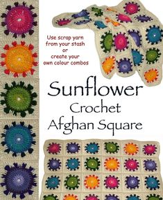Sunflower Afghan Square
