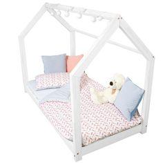 Detská biela posteľ s vyvýšenými nohami Benlemi Tery, 80x160cm, výška nôh 20cm