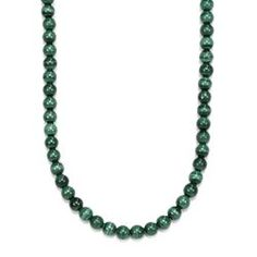 David Yurman Stelring Silver Green Malachite Spiritual Beads Necklace