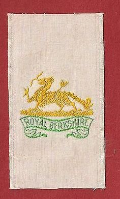 Royal berkshire #regiment biscuit boys #embroidered silk army badge 1915 #origina,  View more on the LINK: http://www.zeppy.io/product/gb/2/192086743894/