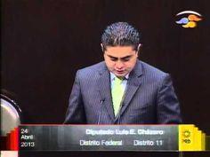 Dip. Luis Espinosa (PRD) - Dictamen Comisión de Energía - YouTube