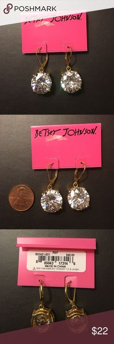 Betsy Johnson Drop Earrings Sparkly Drop Earrings ✨ Betsey Johnson Jewelry Earrings