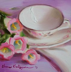 "Daily Paintworks - ""Early Morning"" - Original Fine Art for Sale - © Elena Katsyura Oil Painting For Sale, Painting & Drawing, Tea Cup Art, Unique Paintings, Still Life Art, Oil Painting Reproductions, Art Studies, Fine Art Gallery, Painting Inspiration"
