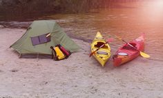 Kayak Camping Equipment Kayak Camping Tips on Minimizing Gear and Packing Canoe Camping, Camping Places, Camping Guide, Canoe Trip, Canoe And Kayak, Kayak Fishing, Camping Gear, Camping Tools, Camping Stuff