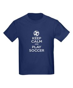 Look what I found on #zulily! Navy 'Keep Calm and Play Soccer' Tee - Toddler & Kids #zulilyfinds