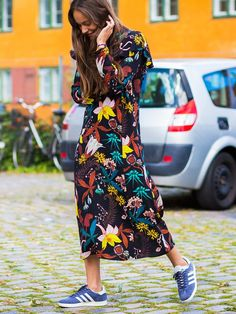This $20 Dress Is Perfect With Flats and Ankle Boots via @WhoWhatWearUK