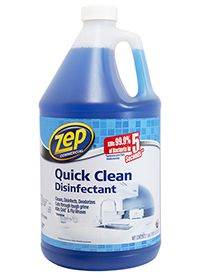 The smart way to clean & disinfect.  Quick Clean Disinfectant kills 99.9% of bacteria in just 5 seconds.  Ideal for virtually all hard, non porous surfaces in your house or business.