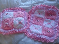 dolls double layer pram blanket and pillow...