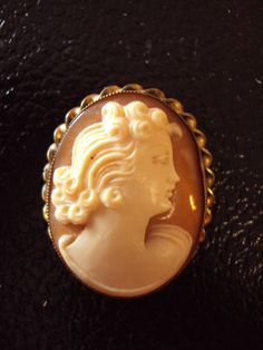 Vintage Shell Cameo, Gold Filled Setting