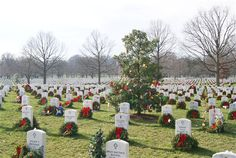 Arlington National Cemetery at Christmas.  Want to volunteer for the laying of the wreaths.