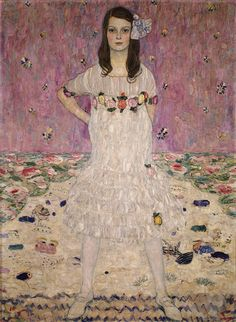 Gustav Klimt (1862-1918). Portrait of Mäda Primavesi. 1912. Oil on canvas. The Metropolitan Museum of Art - New York - USA. http://www.metmuseum.org/toah/works-of-art/64.148
