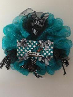 Coastal Carolina mesh wreath w/tag -$55---SOLD!