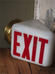 lampe industrielle exit