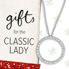 Classic #Gifts for every lady on your list. Our Pavé  Circle Pendant necklace is only $42 and will be sure to a #favorite in her jewelry wardrobe.  Backed by a lifetime guarantee, find all these classic gifts at www.stylewithjennifer.com