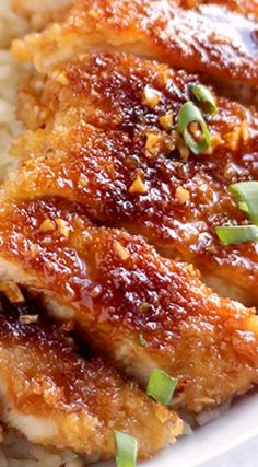 Crispy Pan Fried Honey Garlic Chicken