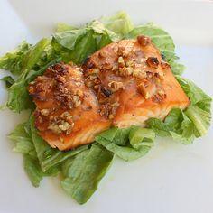 Honey Pecan-Glazed Salmon