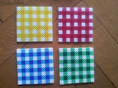 64 Ideas crochet coasters set perler beads for 2019 Hama Beads Coasters, Perler Coasters, Diy Perler Beads, Pearler Beads, Fuse Beads, Hama Beads Patterns, Beading Patterns, Christmas Perler Beads, Crochet Pillow Patterns Free