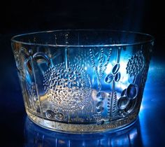 "Iittala FLORA Finland Arabia OIVA TOIKKA Designer 10"" Bowl, Great Condition, NR! #Iittala Glass Texture, Scandinavian, Glass Art, Flora, Vase, Ebay, Design, Finland"