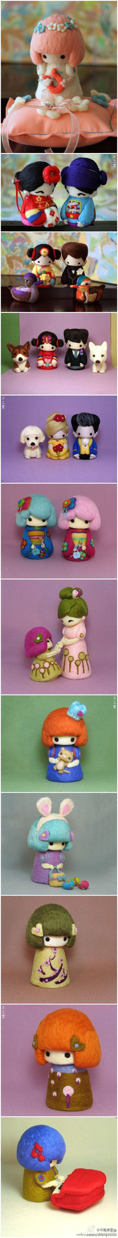 felt creations ♥ Felt Wool Doll