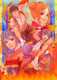 Fire Emblem: Awakening - Lucina, Morgan, Owain, Cynthia - fan art  amazing!!