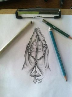 my mom wants to get praying hands. this is pretty