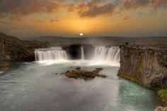 Iceland. Godafoss (via Francine Blais on Google+)
