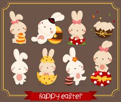 Easter Bunny Clipart - Cute Animal Clip Art - Easter Holiday - Free SVG on Request Rabbit Clipart, Bear Clipart, Cute Animal Clipart, Cute Clipart, Clip Art, Easter Bunny Costume, Easter Wallpaper, Motifs Animal, Easter Holidays