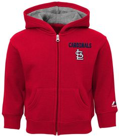 Majestic St. Louis Cardinals Inside-the-Park Full-Zip Hoodie, Baby Boys (12-24 months)