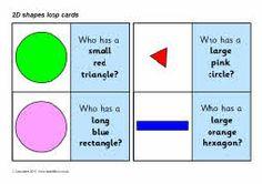 2D shapes loop cards - SparkleBox