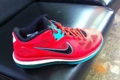 Nike Lebron 9 Low Red / Turquoise Via @Dino Woodard
