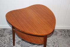 Heart shaped teak table