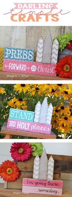 LDS temple crafts. Perfect for YW activities. Great for Super Saturday craft projects