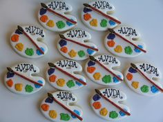 Paint Palette cookies by East Coast Cookies, via Flickr