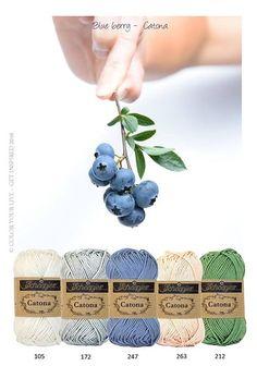 Kleurenpallet Catona - Kleur Inspiratie - Blueberry HobbyVision- (web)winkel voor scrappen, kaarten en meer!