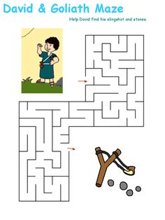 #DAVIDandGOLIATH   Activity#2: Maze    Help our Hero David find his slingshot and stones to defeat the giant Goliath.