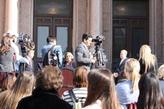 Texas State Rep. Senfronia Thompson (D-Houston), discusses Texas' efforts to combat human trafficking at a press conference on the steps of the Texas Capitol on Thursday, Feb. 12, 2015.