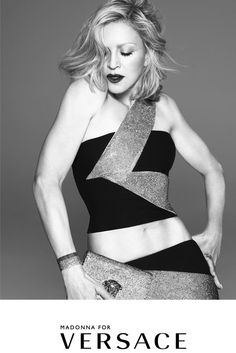 Madonna in the Versace spring-summer 2015 campaign [Photo by Mert Alas and Marcus Piggott]