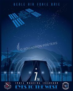 Share Squadron Posters for a 10% off coupon! Beale AFB 7th Space Warning Squadron #http://www.pinterest.com/squadronposters/