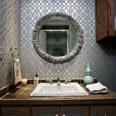 Wallpaper -  Bathroom Powder Room Design, Pictures, Remodel, Decor and Ideas - page 31