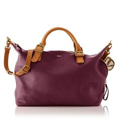 That aubergine color!! Brooklyn Buckle Bag | Mark and Graham | $299