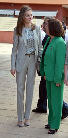 She can rock a suit like nobody's business. | 30 reasons why Queen Letizia of Spain should be your new style icon http://aol.it/1uLAlYk
