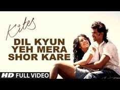 """Watch the full song """"Dil Kyun Yeh Mera"""" from the Bollywood movie """"Kites"""" starring Hrithik Roshan and Barbara Mori. The music is composed by Rajesh Roshan. Barbara Mori, Music Songs, Music Videos, Latest Song Lyrics, Dance India Dance, Lyrics Meaning, Cute Disney Wallpaper, Artist Album, Mp3 Song Download"""
