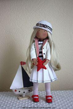 Коллекционные куклы ручной работы. Ярмарка Мастеров - ручная работа текстильная кукла SUNDAY. Handmade.