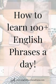 Common Phrases and Words you need to learn to improve your Vocabulary. Click the link below to learn how